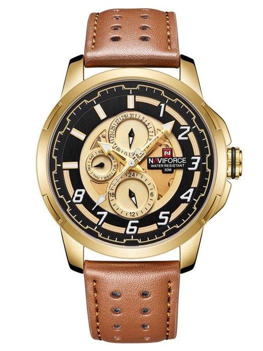 1dd8f56c79624d Zegarek NAVIFORCE - NF9142 (zn087c) gold/br. + BOX. Wczytywanie zdjęcia
