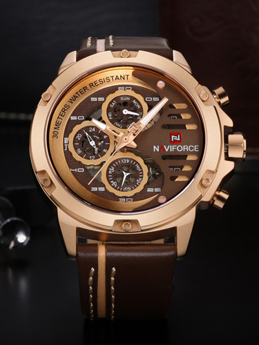 NAVIFORCE - NF9110 (zn047d) - brown/rosegold
