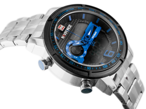 NAVIFORCE - NF9119 (zn066b) - silver/black/blue